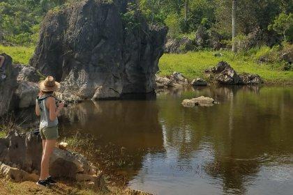 El lago de las piedras